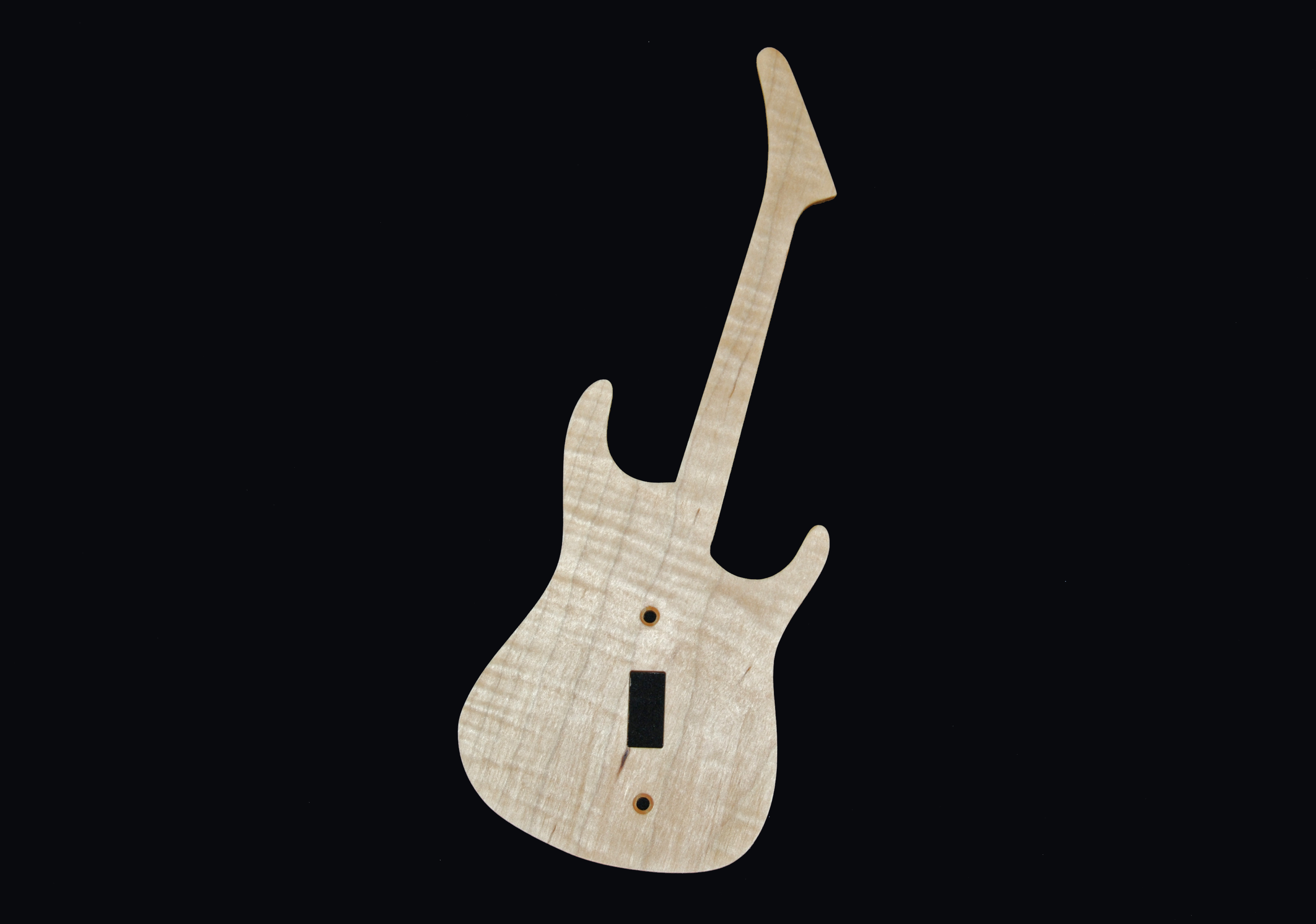 Shredder w neck Curly maple 2